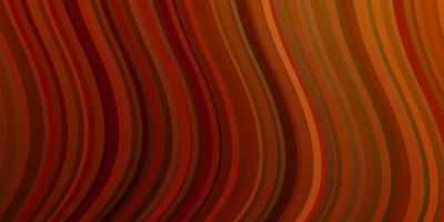 mörk orange vektor bakgrund med cirkulär båge.