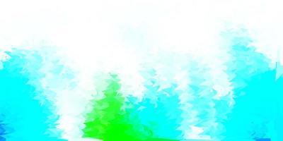 hellblaue, grüne Vektor abstrakte Dreiecksschablone.