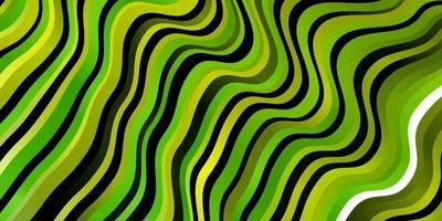 hellgrüne, gelbe Vektorschablone mit Linien. vektor