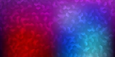 hellblaues, rotes Vektormuster mit abstrakten Formen.
