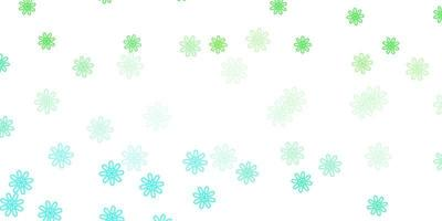 natürliches Layout des hellgrünen Vektors mit Blumen.