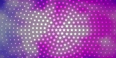 hellrosa Vektorlayout mit hellen Sternen. vektor