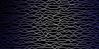 mörk lila vektor mönster med linjer.
