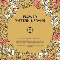 bunte Hand gezeichnete floristische Rahmengrenze vektor