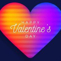 Happy Valentinstag Gruß Banner vektor