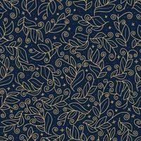 lyxiga guld söta vektor blad sömlösa mönster