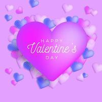glad Alla hjärtans dag hälsning banner vektor