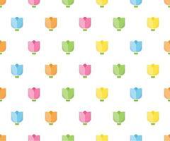 färgglada tulpan sömlösa mönster för bakgrund vektor