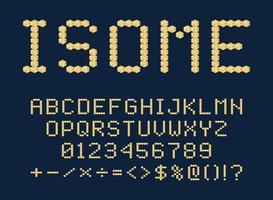 isometrisk 3d-typsnittsdesign