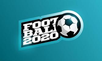 2020 fotboll vektor logotyp