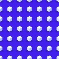 nahtloses abstraktes Würfelvektormuster des Sechsecks vektor