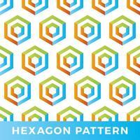 vektor hexagon pil sömlösa geometriska mönster