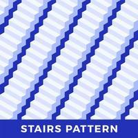 sömlösa mönster av vita trappor vektor