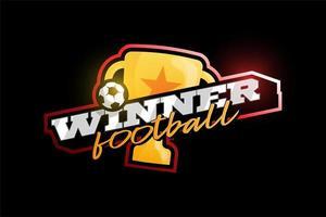Gewinner 2020 Fußball Vektor Logo
