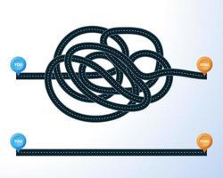 väg från punkt till mål med platsmarkörer inställda vektor