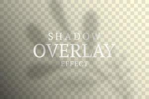 Schattenüberlagerungseffekt vektor