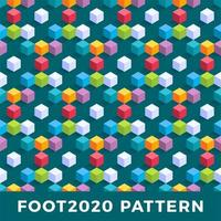 kub isometrisk sömlös mönster design