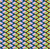blockera isometrisk sömlös mönster design