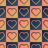 Herz nahtloses Muster vektor