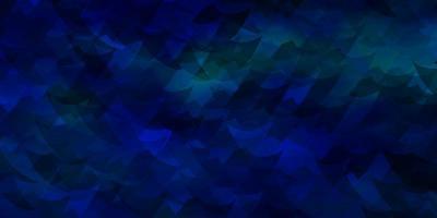 mörkblå vektormönster med månghörnigt stil.