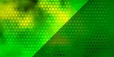 hellgrüner, gelber Vektorhintergrund mit Kreisen.