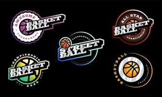 Basketball Vektor Logo Set