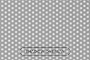 prickad skugga realistisk grå vektor