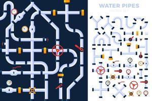 Wasserleitung Set Design vektor