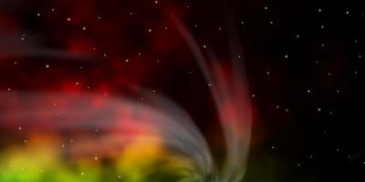 dunkler mehrfarbiger Vektorhintergrund mit bunten Sternen. vektor