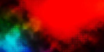 mörkt flerfärgat vektormönster med sfärer.