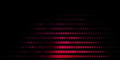 dunkelrosa Vektorhintergrund mit Punkten.