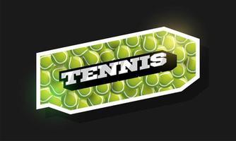 moderne professionelle Typografie Tennissport Retro-Stil Logo vektor