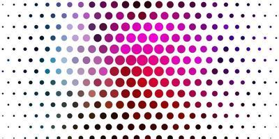 ljus flerfärgad vektor bakgrund med prickar.