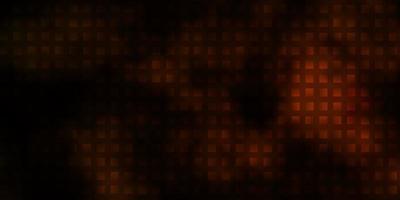 dunkelorange Vektormuster im quadratischen Stil.
