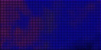 dunkelrosa, blaues Vektorlayout mit Kreisformen. vektor