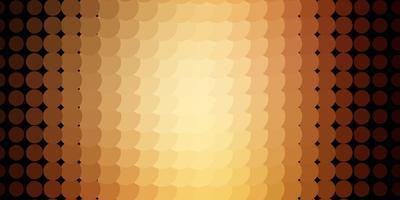 mörk orange vektor mönster med cirklar.
