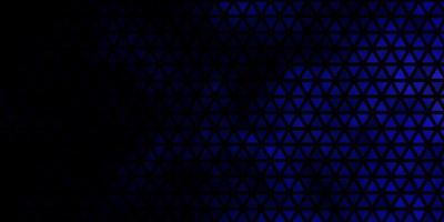 mörkblå vektormönster med månghörnigt stil. vektor