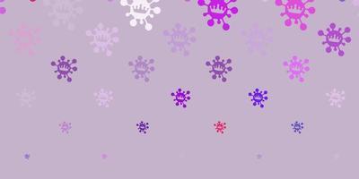 ljus flerfärgad vektorbakgrund med covid-19 symboler