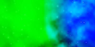 mörk flerfärgad vektorbakgrund med färgglada stjärnor.