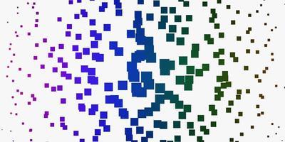 ljus flerfärgad vektorbakgrund med rektanglar.