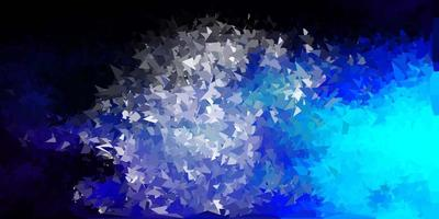 abstrakte Dreiecksschablone des dunkelblauen Vektors.