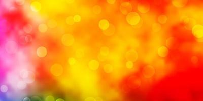 ljus flerfärgad vektorbakgrund med cirklar.