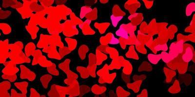 dunkelrosa Vektorhintergrund mit chaotischen Formen.