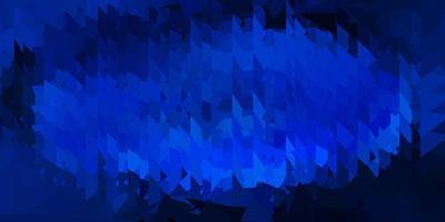 dunkelblauer Vektor Dreieck Mosaik Hintergrund.