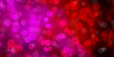 dunkelviolette, rosa Vektorschablone mit Kreisen.