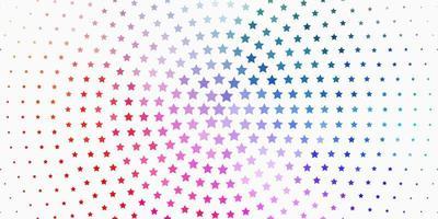 heller mehrfarbiger Vektorhintergrund mit bunten Sternen. vektor