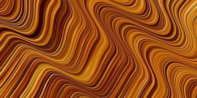 dunkelorange Vektorschablone mit gekrümmten Linien.