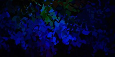 dunkler mehrfarbiger Vektorhintergrund mit zufälligen Formen.