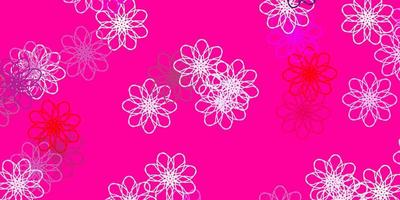natürliche Kunst des hellvioletten, rosa Vektors mit Blumen.