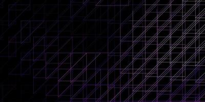dunkelviolettes Vektormuster mit Linien. vektor